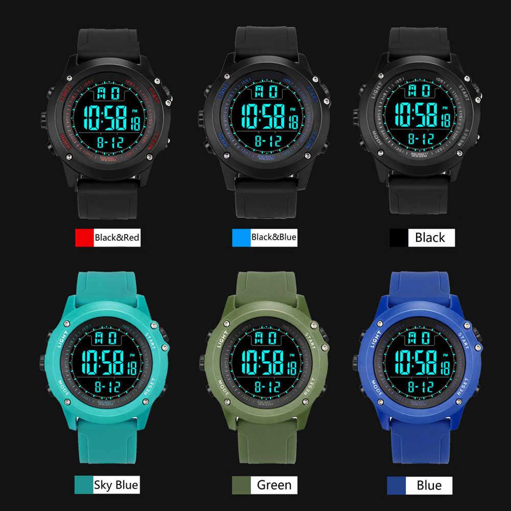 יוקרה מותג Mens ספורט שעונים צלילה 50 m הדיגיטלי LED צבאי שעון גברים אופנה מזדמן אלקטרוניקה שעוני יד Relojes