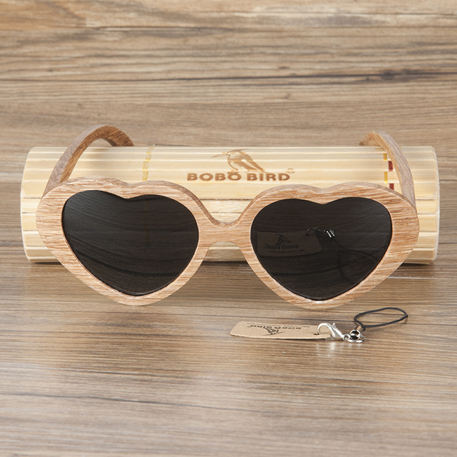 54e33821ba BOBO BIRD 2017 Unique Heart Shape Wooden Sunglasses Women Men With Polarized  Lens oculos With Gift Box Accept Drop Shipping OEM
