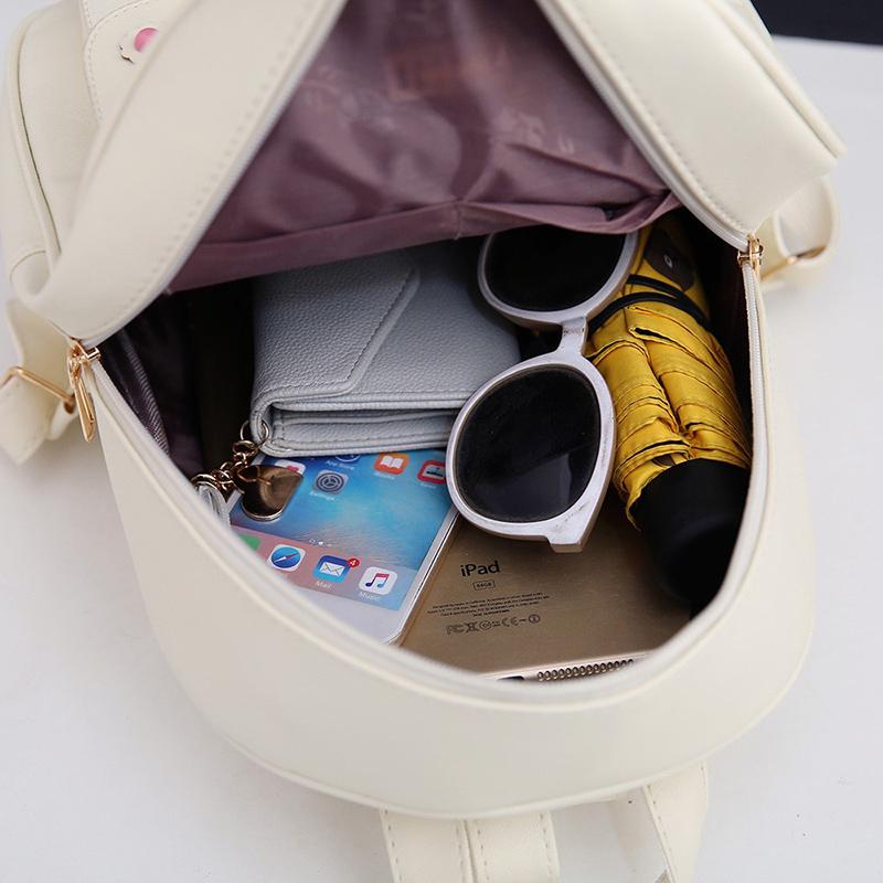 Backpack Female 3 Piece Combination Composite Bag Bear Hanging Inlaid Imitation Diamond Tassel Fashion Casual Shoulder Bag 68