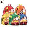 New Bonito Crianças Escola Bags Animal Dos Desenhos Animados Mochila de Lona Applique Mini Bebê Criança Saco de Livro do jardim de Infância Mochilas BP102