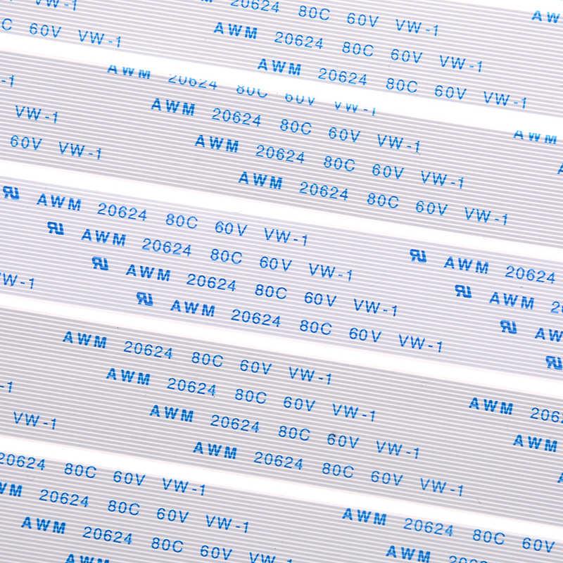 10 Pcs Nieuwe Fpc Lint Flexibele Platte Kabel Toonhoogte 0.5 Mm 100 Mm A-4/6/ 8/10/12/16/20/20/24/26/28/30/ 34/36/40/45/50/54/60pin