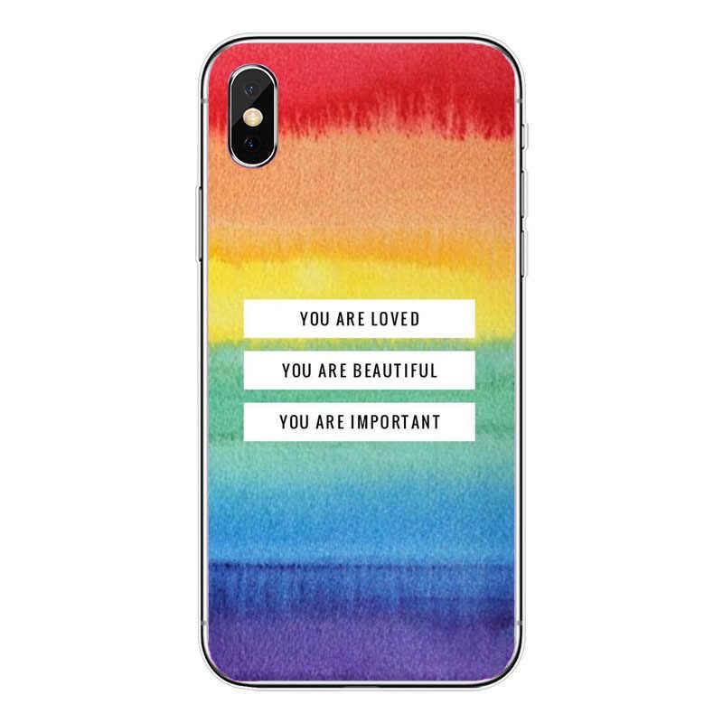 Đồng Tính Đồng Tính Nữ LGBT Rainbow Niềm Tự Hào NGHỆ THUẬT Mới Thời Trang TPU Ốp lưng điện thoại Iphone 11Pro MAX 10 8 7 6 6S Plus X 5 5S SE XS XR XS MAX