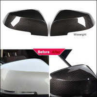 Wooeight 2Pcs Carbon Fiber ABS Rearview Side Wing Mirror Cover Cap Styling for BMW 3 Series GT F30 F34 2013 2014 2015 2016 2017