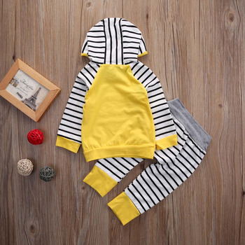 2Pcs/Set New Adorable Autumn Newborn Baby Girls boys Infant Warm Romper Jumpsuit  playsuit Hooded Clothes Outfit0-3 years 1