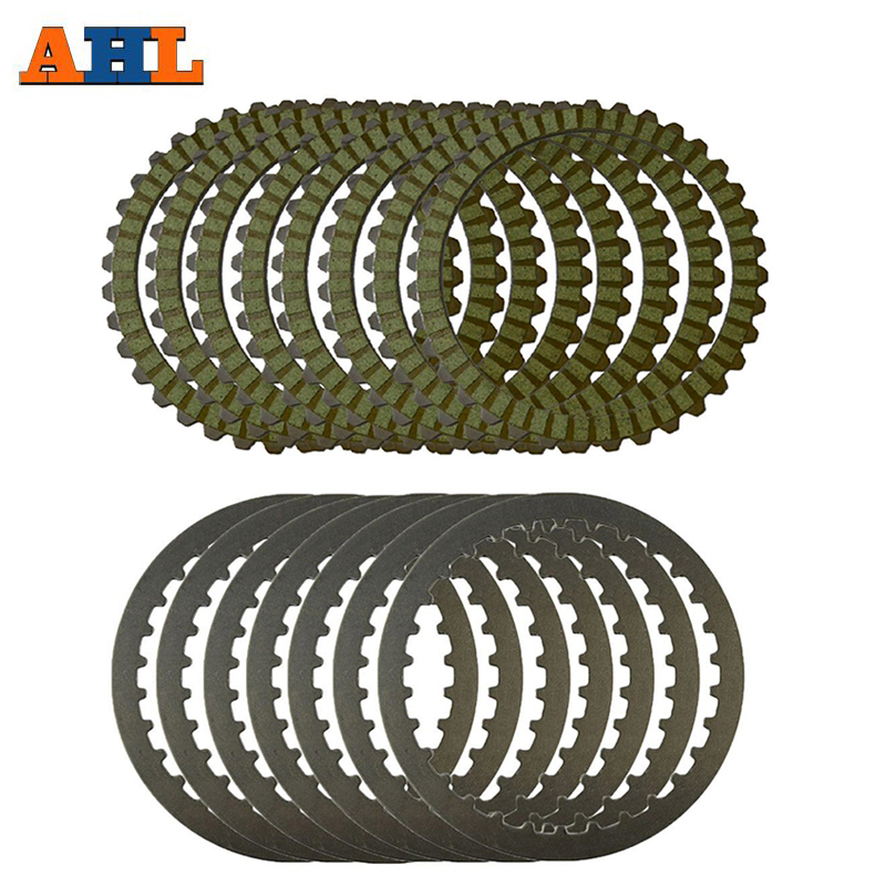 AHL Clutch Plates Steel Plates Friction Discs Green For Harley XL883 2004 2008 XL1200 SPORTSTER 1991