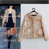 Luxury Brand 2018 Autumn Plaid Plus Size XL Slim Casual Short Coat Women Winter Woolen Jackets Women Tweed Basic Coat Thicker