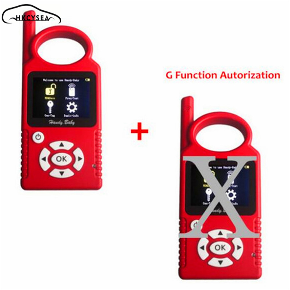 V9.0.0 Handy Baby Hand-Held Car Key Copy Auto Key Programmer for 4D/46/48 Chips + G Chip Copy Function Authorization