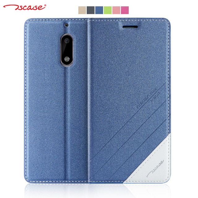 online store d3b12 59839 US $8.41 37% OFF|Aliexpress.com : Buy Original Tscase for Nokia 6 Case  Cover Magnetic Flip PU Leather + Soft TPU Back Cover for Nokia 6 Case Stand  ...