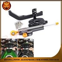 Motorcycle Steering Damper Stabilizer With Mount Bracket Kit C For KAWASAKI Z1000 2014 2015 2016 Free