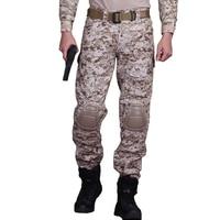 Taktik Pantolon Erkek Askeri Kamuflaj Kargo Pantolon Diz Pedleri SWAT Ordu Airsoft Paintball Savaş Pantolon Camo Çalışma Siyah Pantolon