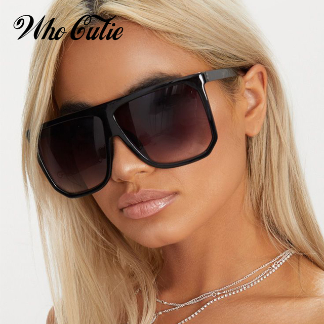 b6f35a7422 Que Linda 2018 de piloto gafas de sol mujer Marca Diseño Carey marco  superior plano fina moda gafas de sol tonos OM753