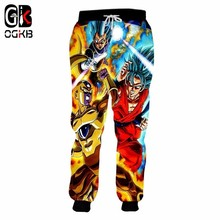 OGKB Anime Sweatpants Printed Dragon Ball Z 3D Sweat Pants For Mens Hiphop Sportswear Gyms Fitness Casual Track Plus 5XL
