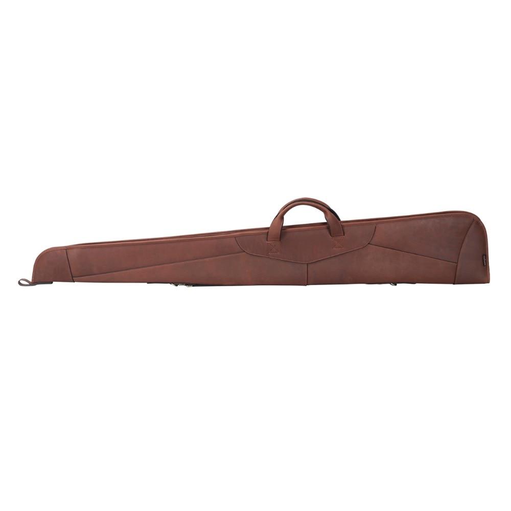 Real Leather Gunslip Bag Shooting Hunting Shotgun Rifle Holster BROWN Carry Case