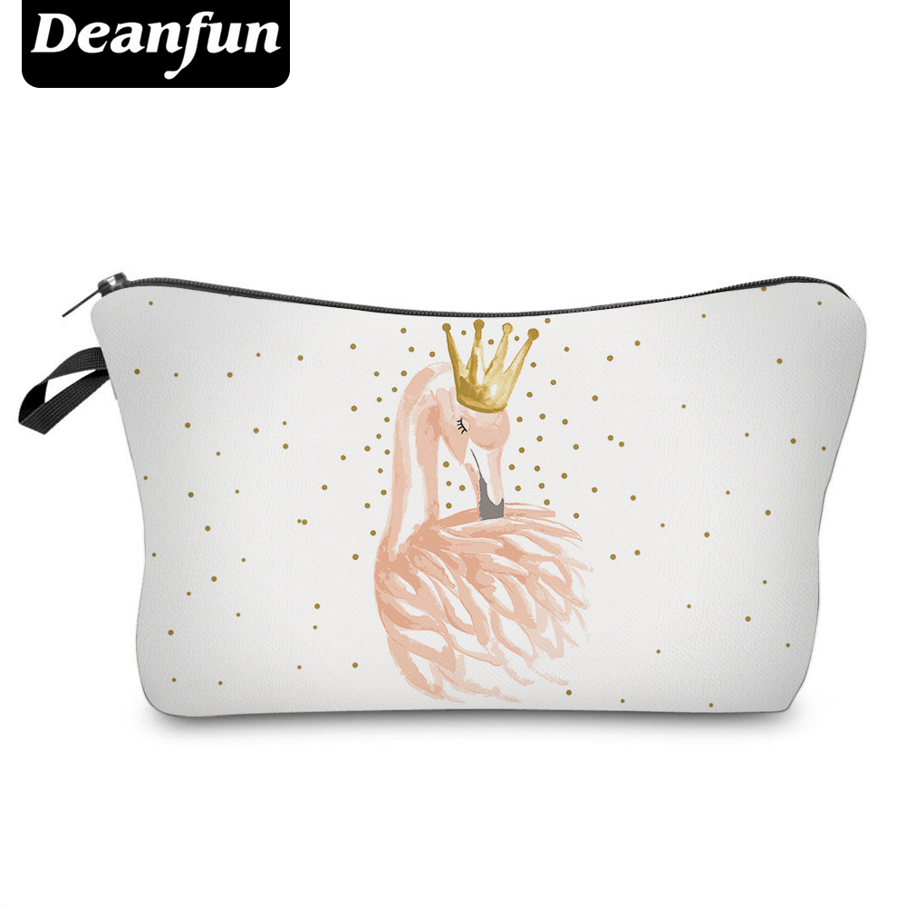 Deanfun Cosmetic Bags 3D Printing Flamingo Princess Cute Gift For Girls Makeup Organizer  51071