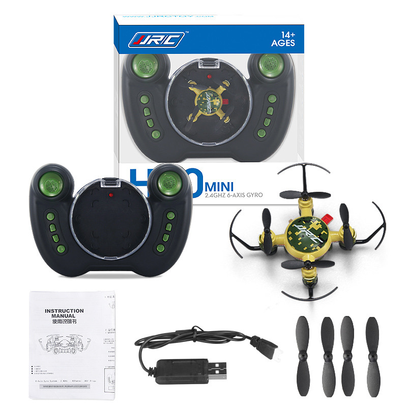 JJRC 2017 New H30 Mini 2.4G 4CH 6-Axis Gyro Drone One Key Return Headless Mode 3D-Flip RTF RC Quadcopter Green/Blue Helicopter