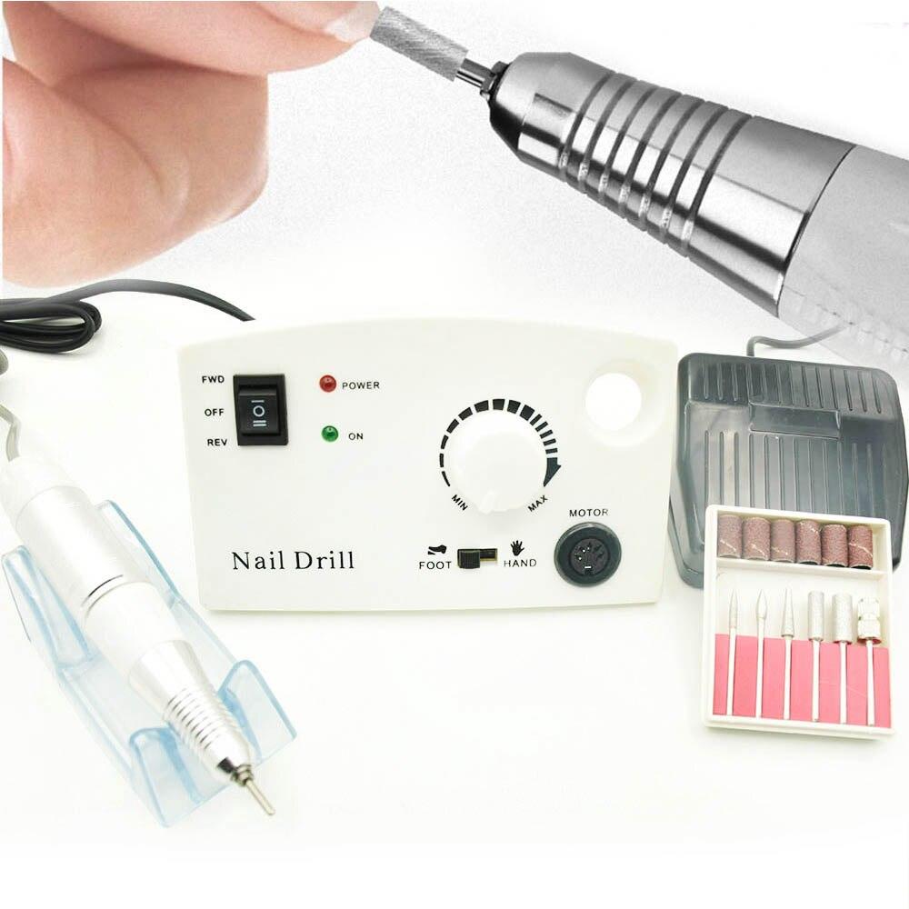 35000 RPM 15 W eléctrico taladro clavo manicura máquina pedicura uñas accesorios herramientas Archivo de clavo eléctrico taladro con taladro del clavo poco