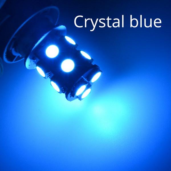 1156 BA15S 1157 BAY15D P21W BA15D 13Led 5050 Автомобильные светодиодные поворотные парковочные сигнальные огни, тормозные задние лампы, автомобильные задние лампы заднего хода, DC 12 В - Испускаемый цвет: Кристально-синий