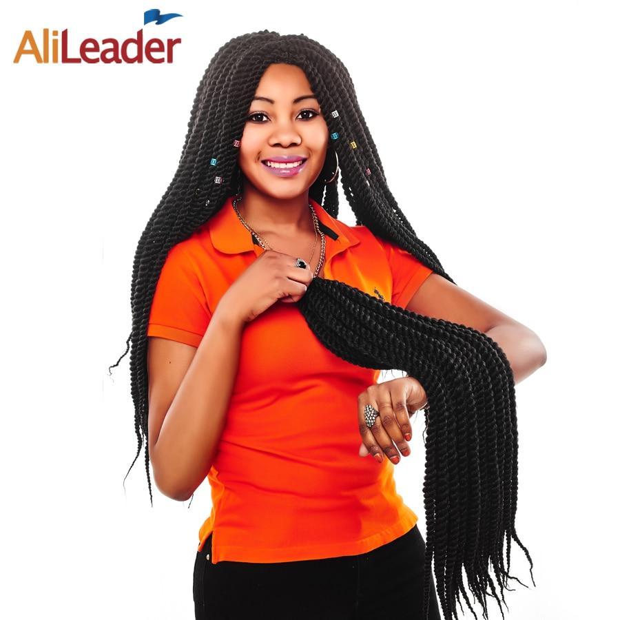 AliLeader ürünler Senegalese büküm saç tığ örgüler uzantıları 22 inç 13 renk Ombre mor sentetik saç örgü için