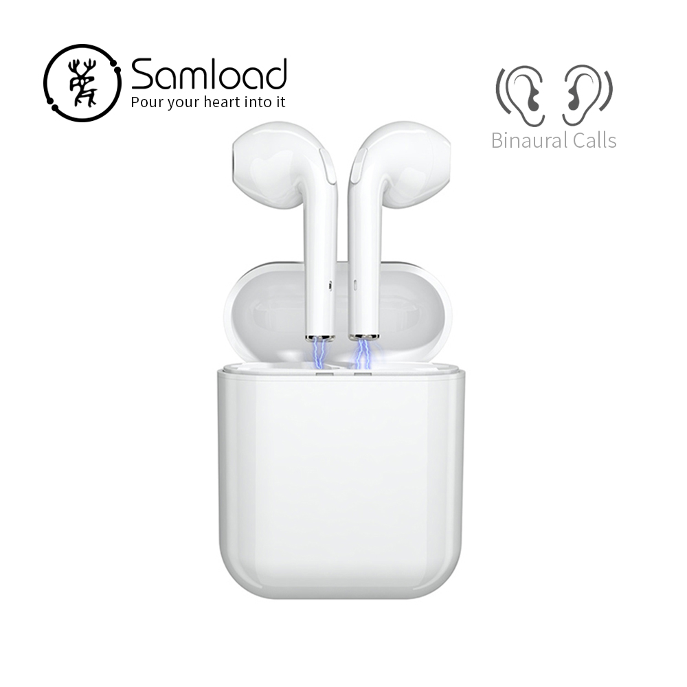 все цены на Samload Bluetooth 5.0 Earphone Binaural calls Headphone Stereo music earbuds 2500mAh Power bank For Apple Headset iPhone 6 7 8 X онлайн