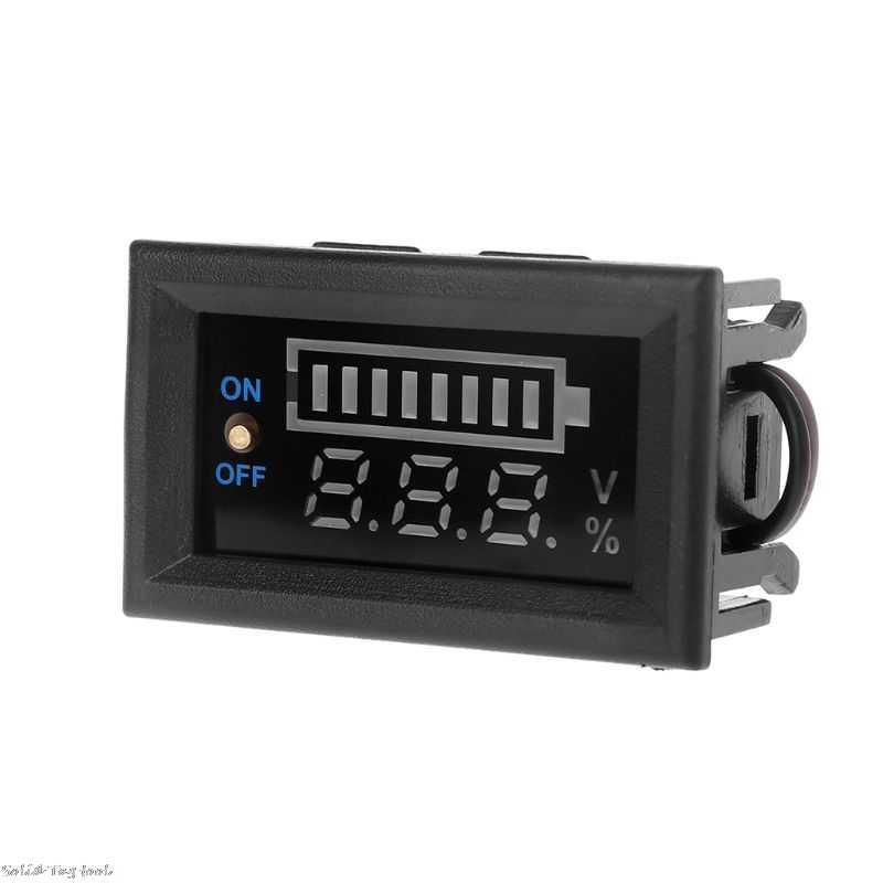 12V Auto Lood-zuur Batterij Niveau Indicator Batterij Tester Lithium Batterij Capaciteit Meter Led Tester Voltmeter Dual Display
