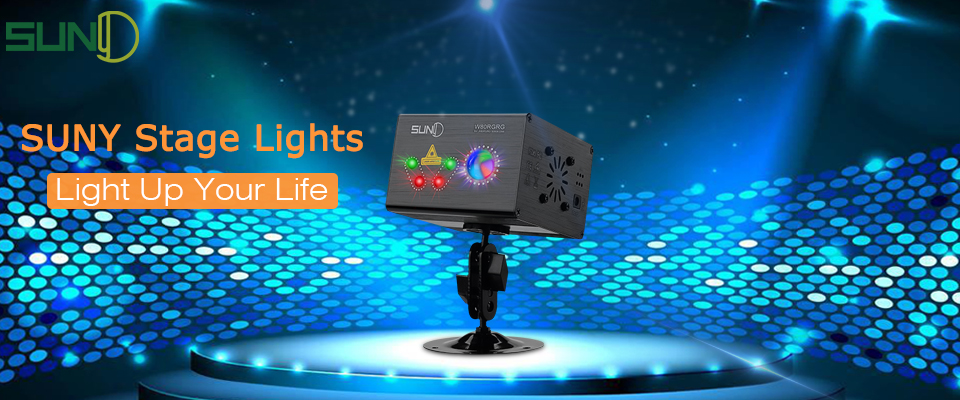 US $64 3 |SUNY 80 RG Patterns Laser Projector Laser Light Galaxy LED Ripple  Wave Gobos Stage Laser Light Party Laser DJ Disco Xmas Light-in Stage