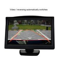 5 Inch Car Monitor Rear View Camera HD800 480 Reversing LCD Display Bidirectional Input Night Vision