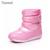 Invierno nuevas botas de nieve niñas de cerezo lindo anti-húmedo anti-slip zapatos de princesa zapatos de invierno la nieve