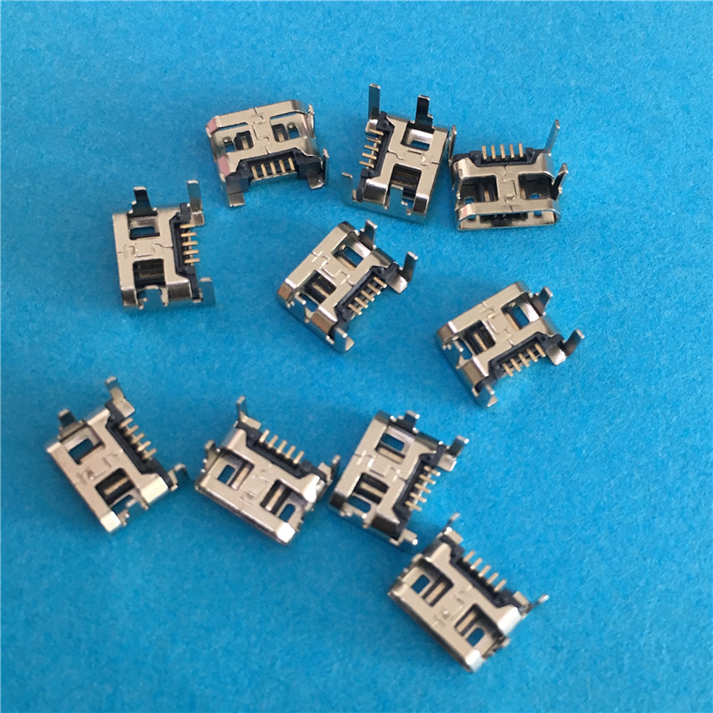 10PCS YT2011Y Micro USB 5P 4 feet 5 Pin USB socket plug board type plate-insert Connector Copper High Quality On Sale10PCS YT2011Y Micro USB 5P 4 feet 5 Pin USB socket plug board type plate-insert Connector Copper High Quality On Sale