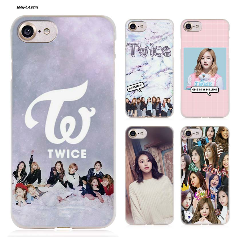 BiNFUL twice knock Kpop B Hard Clear Case Cover Coque for iPhone X 6 6s 7 8 Plus 5s SE 5 ...