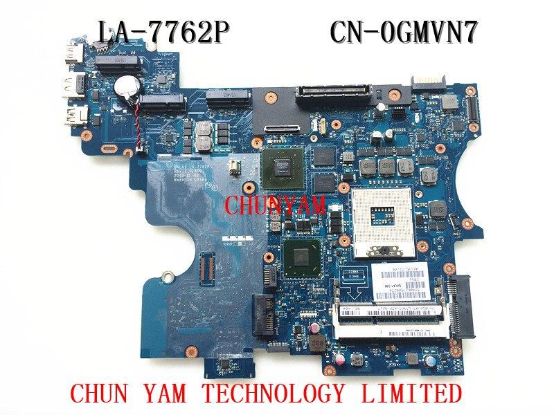 LA-7762P FOR DELL E6530 laptop motherboard CN-0GMVN7 GMVN7 Mainboard 90Days Warranty 100% tested