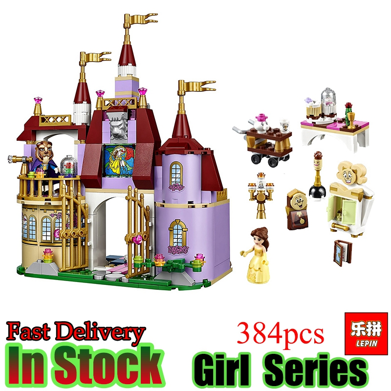 Lepin  01010 Friend 379pcs Princess Cinderella Castle Palace Girl Educational Building Blocks Bricks Toy For Children Gift lepin 16008 4160pcs cinderella princess castle city model building block kid educational toys for gift compatible legoed 71040