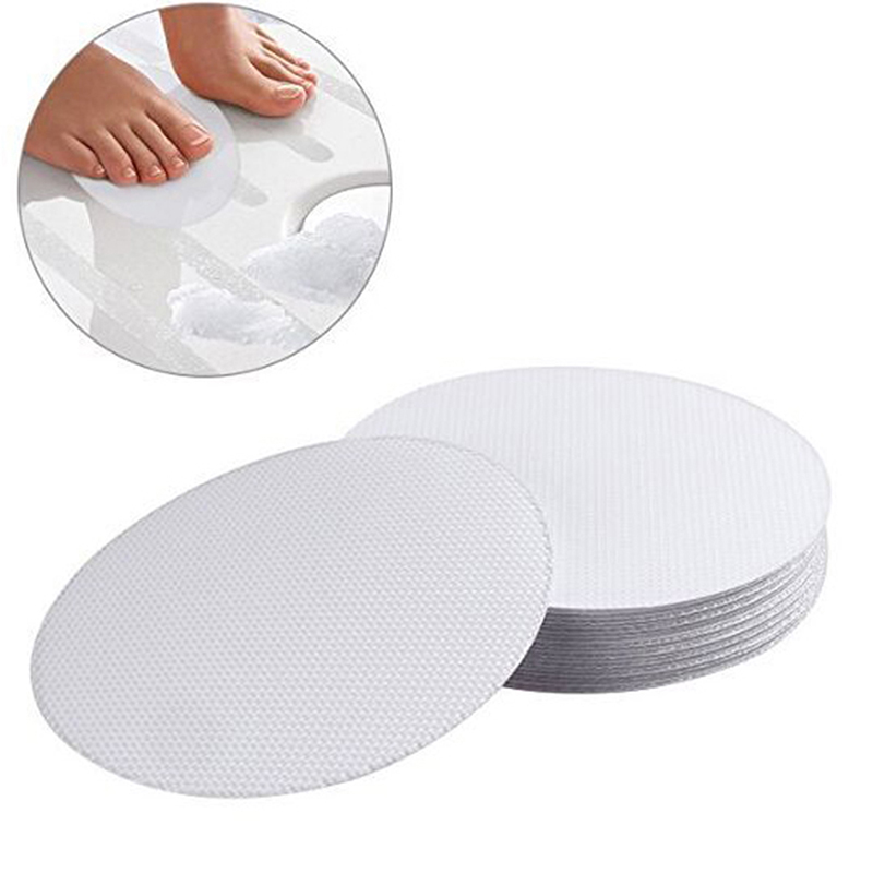 10Pcs Non-Slip Mat Safety Bath Tub Shower Floor Sticker Applique Bathroom Accessories Anti-Slip Bath Grip Stickers PEVA Round
