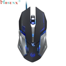 Mosunx TOP QUALITY Gaming Steel Mouse 3500 DPI 6 Button Optical Custom Macros USB Wired  Mice Ergonomically designed MAR 29
