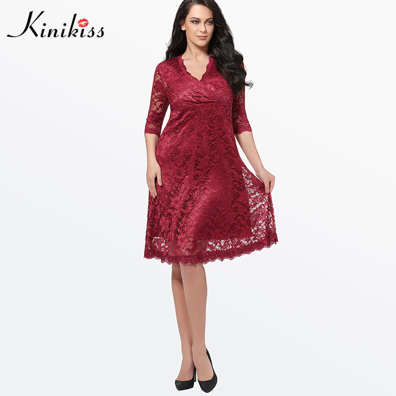 c1c3ec4e88d0e Kinikiss Fashion Black Plus Size Lace Dress Sexy Women Hollow Out Party  Dress Summer Elegant Women Large Wrap Dress Vintage