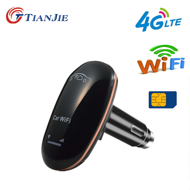TIANJIE CF901 3g 4g LTE UMTS GSM CarFi 150 Mbps auto WiFi router wireless dongle mit power-taste und sim karte slot