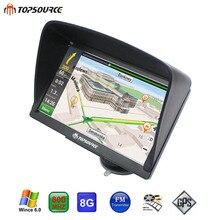 TOPSOURCE TS708 Navigator 7″ HD  vehicle Truck Car GPS Navigation Windows Ce6.0 MSB 2531 ARM Cortex A7 800MHZ 256M 8GB GPS MAP