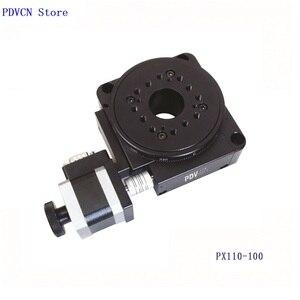 Image 2 - Étape rotative électrique PDV PX110 100, étape de Rotation motorisée, plate forme rotative électrique, bureau rotatif de précision