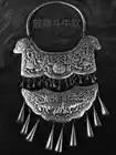 Vente chaude nouveau livraison gratuite à la main Miao argent ornement gravure dragon Phoenix tauromachie culture grand collier - 2