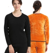 Plus Size Winter Thermal Underwear Women Seamless Pant And Top Suit Warm Pajamas Especially Female Velvet Thick Thermal Pajamas