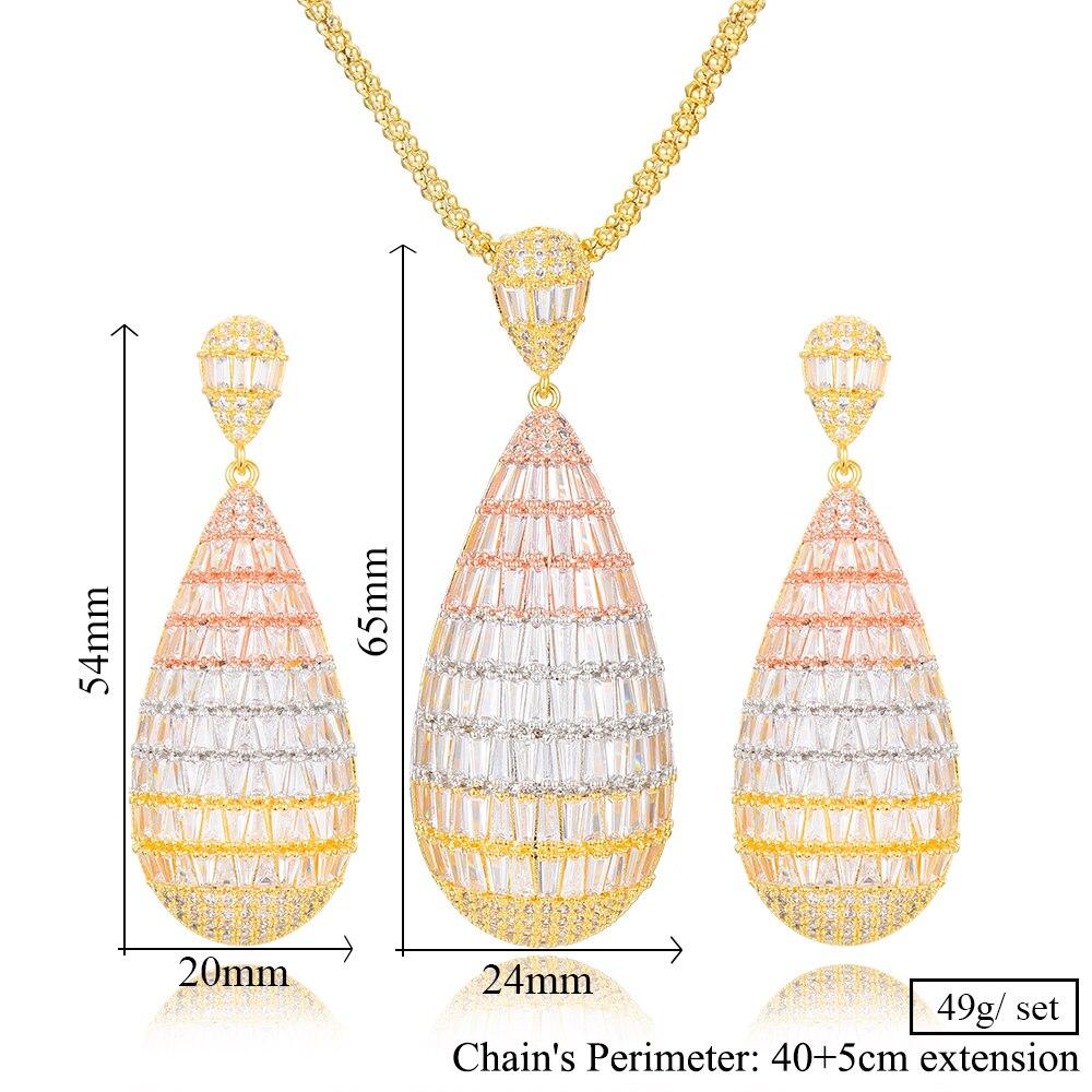 Image 5 - GODKI luxe goutte deau cubique Zircon nigérian collier boucles  doreilles ensembles de bijoux pour les femmes de mariage indien Dubai  ensembles de bijoux de mariéeParures de bijoux