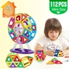 MiniTudou Mini 112PCS Magnetic Blocks Construction Enlighten Assembly Building Blocks Toys Kids Educational DIY Plastic Bricks
