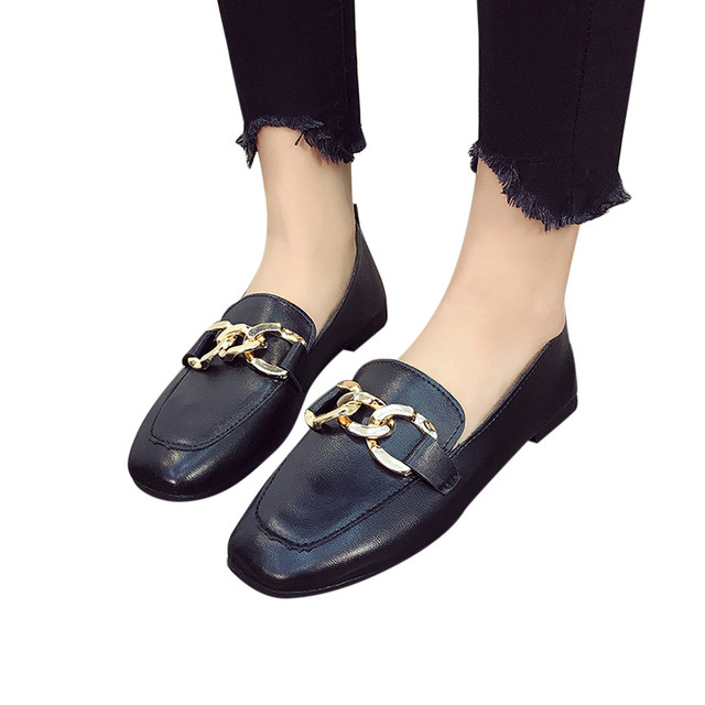New Casual Outdoor Toe Flat High Quality Solid Women Retro Flat Heel Shallow Mouth Solid Color Casual Shoes Flat Shoes