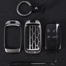 Чехол для ключей из цинкового сплава, автомобильный брелок для Land Rover discovery 3 4 range rover A8 A9, 5 кнопок, Автомобильный дизайн, металлические Чехлы для ключей