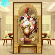 5D DIY Diamond embroidery European Style Flower home decor 100% Pictures round or square rhinestone painting cross stich