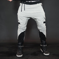 Running Pants Men Quick Dry Breathable Gym Men Fitenss Pants Elastic Drawstring Outdoor Trousers Sport Jogging Pants