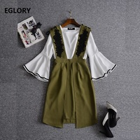 New Korean Fashion Jumpsuits 2017 Summer Fashion Ladies O Neck Ring Buckle Belts Wide Leg Solid