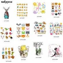 7e47f928c Kawaii cartas animales de dibujos animados de hierro en las transferencias para  tela de la ropa