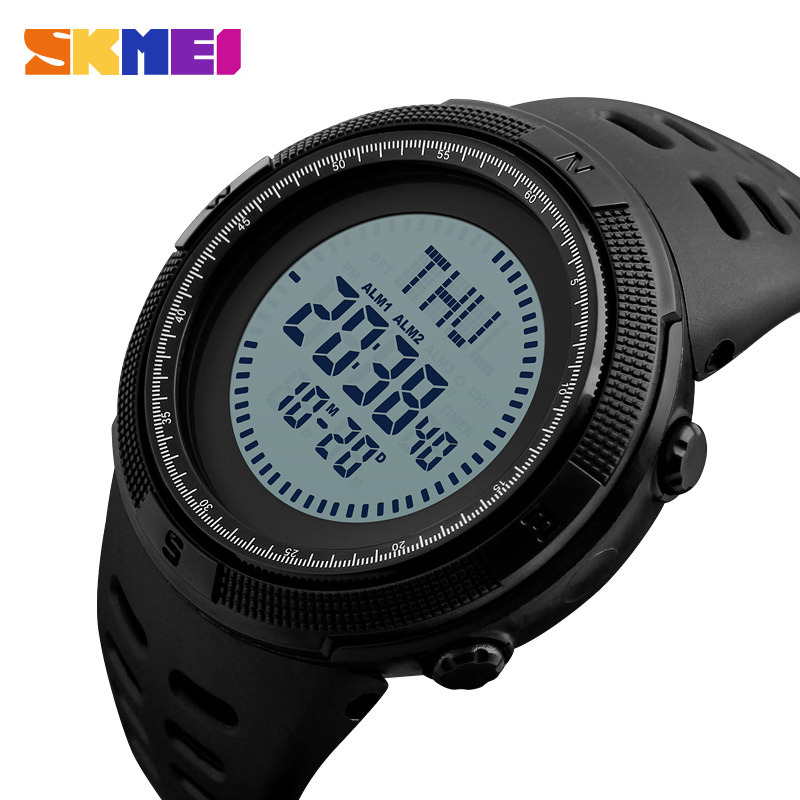 c7a97d76da5 SKMEI Men Sports Outdoor Compass Watches 3 Alarm World Time Digital Watch  Fashion Casual Wristwatches Relogio