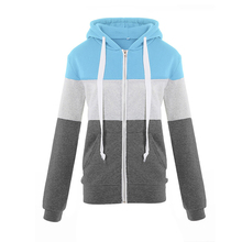 Winter Autumn Slim hoodies women casual Long Sleeve Patchwork Hoody harajuku Zipper cute oversized hoodie sweatshirts