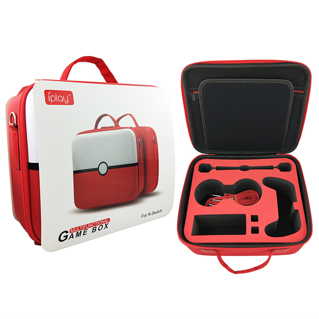 new product storage Bag for Switch poke ball protective case for Nintendo Switch controller red color-in Replacement Parts & Accessories from Consumer Electronics